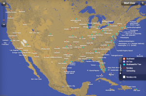 Southwest-Airtran Route Map