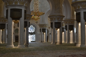 The inside of the Grande Mosque in Abu Dhabi (UAE)