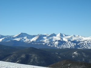 A view of Breckenridge from Keystone.