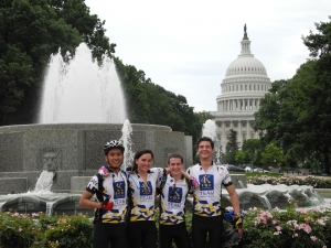 The first day of the 4K for Cancer. Riding through Washington DC.