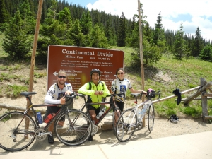 Riding over the Continental Divide.