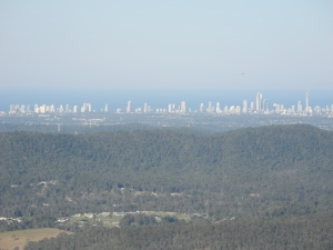 A view of the Gold Coast from the nearby mountains... this picture does not do it justice.