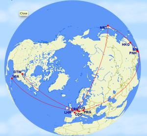 Trip 2b. 24,662 miles. [October Plan]