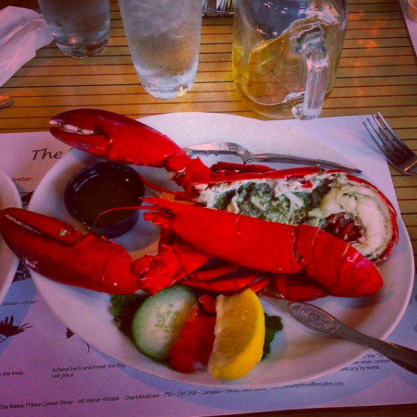 Lobster Dinner, Prince Edward Island