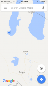 Camping location on the South Aral Sea