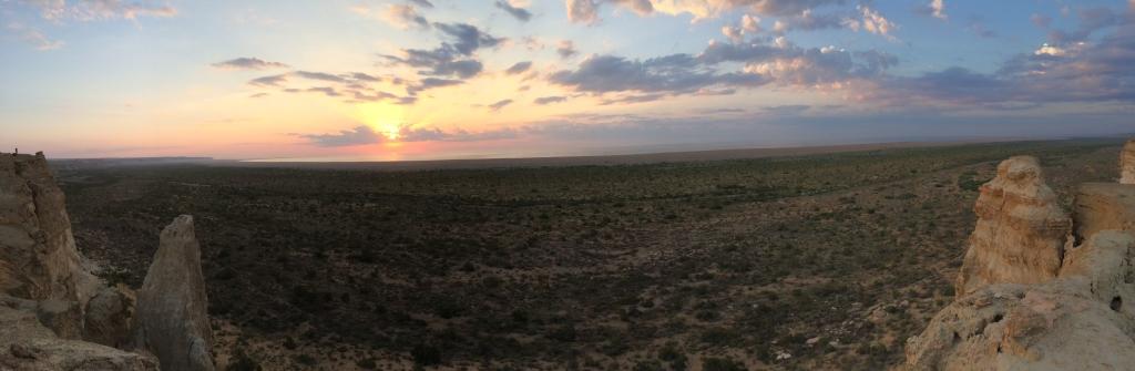 Sunrise over the Aral Sea