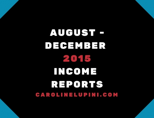 August to December 2015 Income Reports